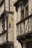 Half-Timbered House Detail, Bayeux, Normandy, France Photographic Print by Walter Bibikow
