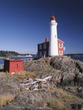 Fisgard Lighthouse, Fort Rodd, Victoria, British Columbia, Canada Photographic Print by Walter Bibikow