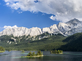 Lake Eibsee with Mt. Zugspitze, Bavaria, Germany Photographic Print by Martin Zwick