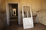 Person in Abandoned House, Kolmanskop Ghost Town, Namibia Photographic Print by David Wall