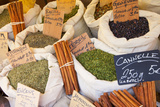 Sacks of Herbs for Sale, Collioure, Languedoc-Roussillon, France Photographic Print by Brian Jannsen