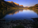 Early Morning at St Mary Lake in Glacier National Park, Montana, USA Photographic Print by Jerry Ginsberg