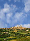 Vineyards and the Hilltop Town of San Gimignano in Tuscany, Italy Photographic Print by  Jaynes Gallery