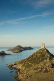 View of the Iles Sanguinaires at Dawn, Ajaccio, Corsica, France Photographic Print by Walter Bibikow