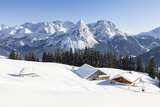 Mieminger Mountain Chain During Winter, Tyrol, Austria Lámina fotográfica por Martin Zwick
