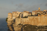 Cliffside Houses at Dawn, Bonifacio, Corsica, France Photographic Print by Walter Bibikow