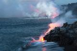 Nighttime Lava Flow, the Big Island, Kilauea, Hawaii, USA Photographic Print by  Jaynes Gallery