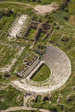 Aerial View of the Amphitheater, Aphrodisias, Aydin, Turkey Photographic Print by Ali Kabas