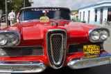 Classic 1950S Edsel Parked on Downtown Street, Cardenas, Cuba Photographic Print by Bill Bachmann