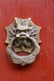 Village Door with Ornate Dragon Knocker, Zhujiajiao, China Fotodruck von Cindy Miller Hopkins