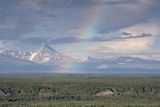 Rainbow over Copper River, Alaska, USA Photographic Print by Tom Norring