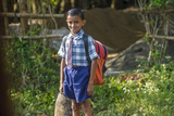 Male Elementary School Student, Backwaters, Kerala, India Photographic Print by Ali Kabas