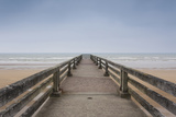 Omaha Beach Pier, St-Laurent Sur Mer, Normandy, France Photographic Print by Walter Bibikow