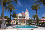 Pool at Southernmost House Inn in Key West Florida, USA Photographic Print by Chuck Haney