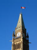 Detail of the Peace Tower, Ottawa, Ontario, Canada Photographic Print by Walter Bibikow
