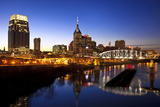 City Skyline at Dusk, Nashville, Tennessee, USA Photographic Print by Brian Jannsen