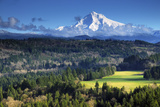 Mount Hood, Jonsrud Viewpoint, Sandy, Oregon, USA Photographic Print by Michel Hersen