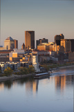 St Paul, Skyline from Mississippi River, Minneapolis, Minnesota, USA Photographic Print by Walter Bibikow