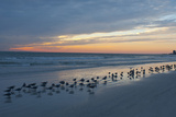 Cloudy Sunset on Crescent Beach, Siesta Key, Sarasota, Florida, USA Photographic Print by Bernard Friel