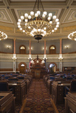 Chamber of the State House of Representatives, Topeka, Kansas, USA Photographic Print by Walter Bibikow
