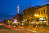 Tower Theatre on Wall Street at Dusk, Bend, Oregon, USA Photographic Print by Chuck Haney