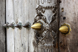 Close-Up of Traditional Carved Door, Stone Town, Zanzibar, Tanzania Photographic Print by Alida Latham