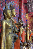 Statues of Buddha Inside Buddhist Temple, Luang Prabang, Laos Photographic Print by  Jaynes Gallery