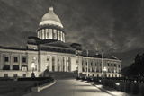 Arkansas State Capitol Exterior at Dusk, Little Rock, Arkansas, USA Fotografie-Druck von Walter Bibikow