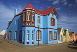 Colorful German Colonial Architecture, Luderitz, Namibia Photographic Print by David Wall