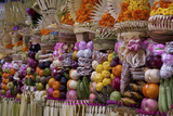 Row of Offerings at Pura Samuan Tiga Temple, Bedulu, Bali, Indonesia Photographic Print by  Jaynes Gallery