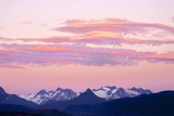 Kenai Mountains at Sunrise, Lands End, Homer, Alaska, USA Photographic Print by Tom Norring
