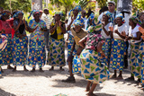 Women and Men Dancing in Traditional Dress, Benguela, Angola Photographic Print by Alida Latham