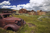 Wood Buildings and Old Car, Bodie State Historic Park, California, USA Photographic Print by  Jaynes Gallery