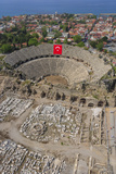 Aerial View of the Amphitheater in Side, Antalya, Turkey Photographic Print by Ali Kabas