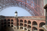 Fort Point and Golden Gate Bridge, San Francisco, California, USA Photographic Print by Peter Bennett