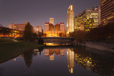 Gene Leahy Mall Skyline at Dawn, Omaha, Nebraska, USA Fotodruck von Walter Bibikow