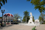 Jose Marti Square and Statue in Center of Town, Cienfuegos, Cuba Photographic Print by Bill Bachmann