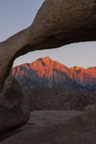 Mountains Seen Through Mobius Arch, Alabama Hills, California, USA Photographic Print by  Jaynes Gallery