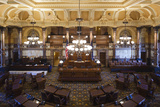 Kansas State Capital, State Senate Chamber, Topeka, Kansas, USA Photographic Print by Walter Bibikow