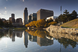 Gene Leahy Mall Skyline, Omaha, Nebraska, USA Photographic Print by Walter Bibikow