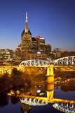 Twilight over the Cumberland River and Nashville, Tennessee, USA Photographic Print by Brian Jannsen