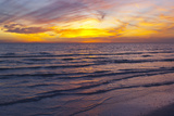 Sunset on Crescent Beach, Siesta Key, Sarasota, Florida, USA Photographic Print by Bernard Friel