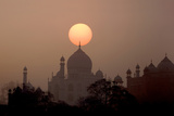 Sun Sets over Taj Mahal Mausoleum, Agra, India Photographic Print by  Jaynes Gallery