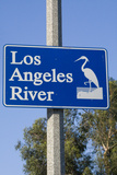 Los Angeles River Sign, Glendale Narrows, California, USA Photographic Print by Peter Bennett