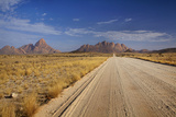 Road to Spitzkoppe (Left), and Pondok Mountains (Right), Namibia Photographic Print by David Wall