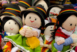Hand Made Dolls in Highland Costume, Otavalo Market, Quito, Ecuador Photographic Print by Cindy Miller Hopkins