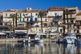 Yacht Harbor at Dawn, Port De Plaissance, Calvi, Corsica, France Photographic Print by Walter Bibikow