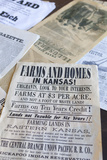 Print Shop Paper, Old Cowtown Museum, Wichita, Kansas, USA Photographic Print by Walter Bibikow