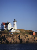 Lighthouse, York, Maine, USA Photographic Print by Walter Bibikow