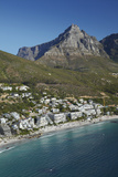 Apartments, Clifton Beach, and Table Mountain, Cape Town, South Africa Photographic Print by David Wall